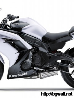 2013 Kawasaki Ninja 650 White Color Full Size