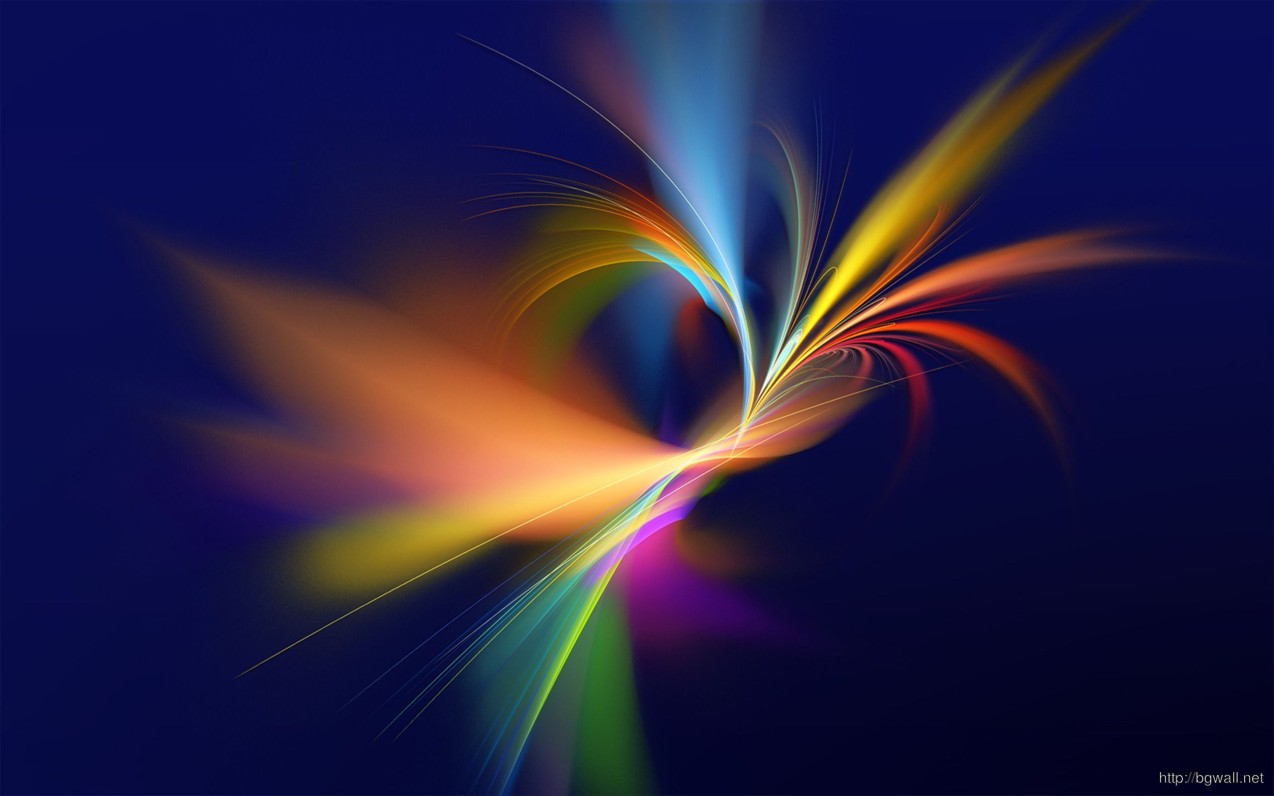 Beautiful Fluorescence Curves Wallpaper Background