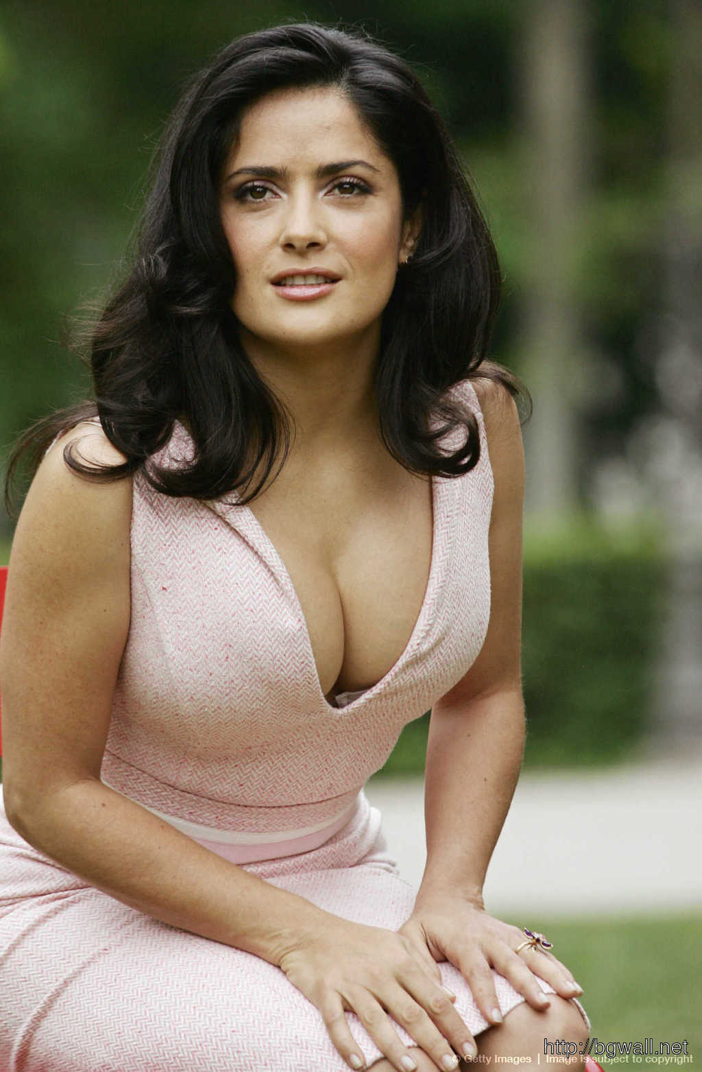 Mexican Actress Salma Hayek Poses During Full Size