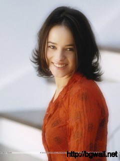 Alizee Jacotey Smile In Orange Color Dress Wallpaper Full Size
