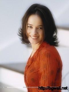 Alizee Jacotey Smile In Orange Color Dress Wallpaper Full Size