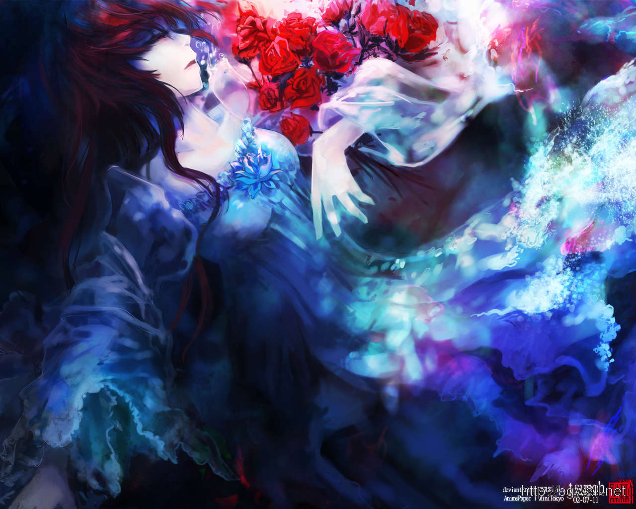 Anime Wallpapers Original Art Drowning Dream 1280 X 1024 Full Size