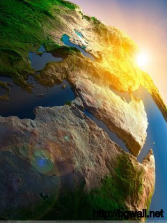 Beautiful Green Earth Closeup Wallpaper Full Size