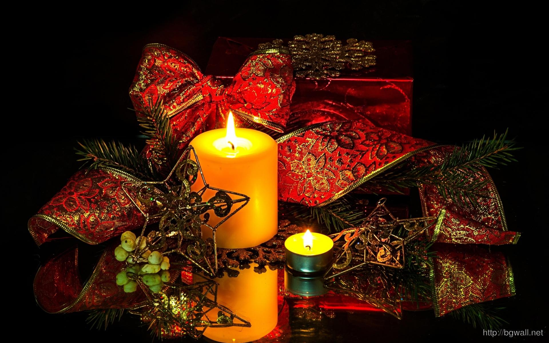 Candles Star Ribbon