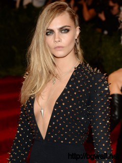 Cara Delevingne At 2013 Met Gala In New York Full Size