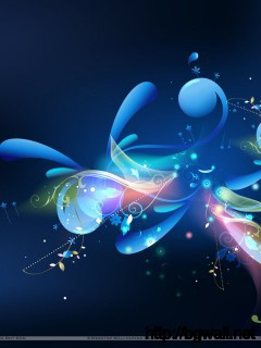 Cool Looking Blue Abstract Wallpaper Full Size