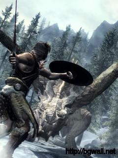 Dragon Fight The Elder Scrolls V Skyrim Full Size