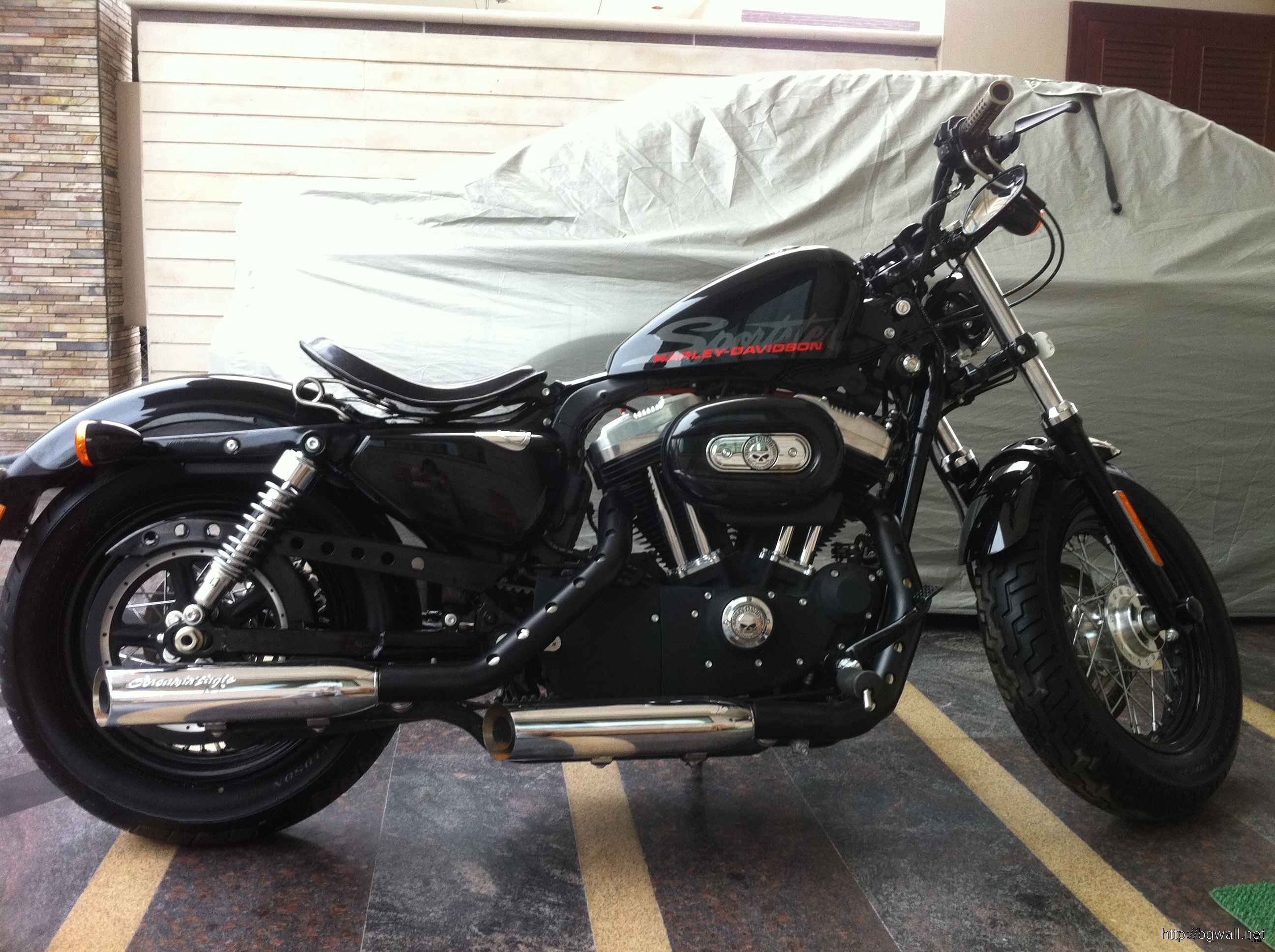 Forty Eight Black View 300x224 Harley Davidson Xl 1200x Forty Eight Full Size