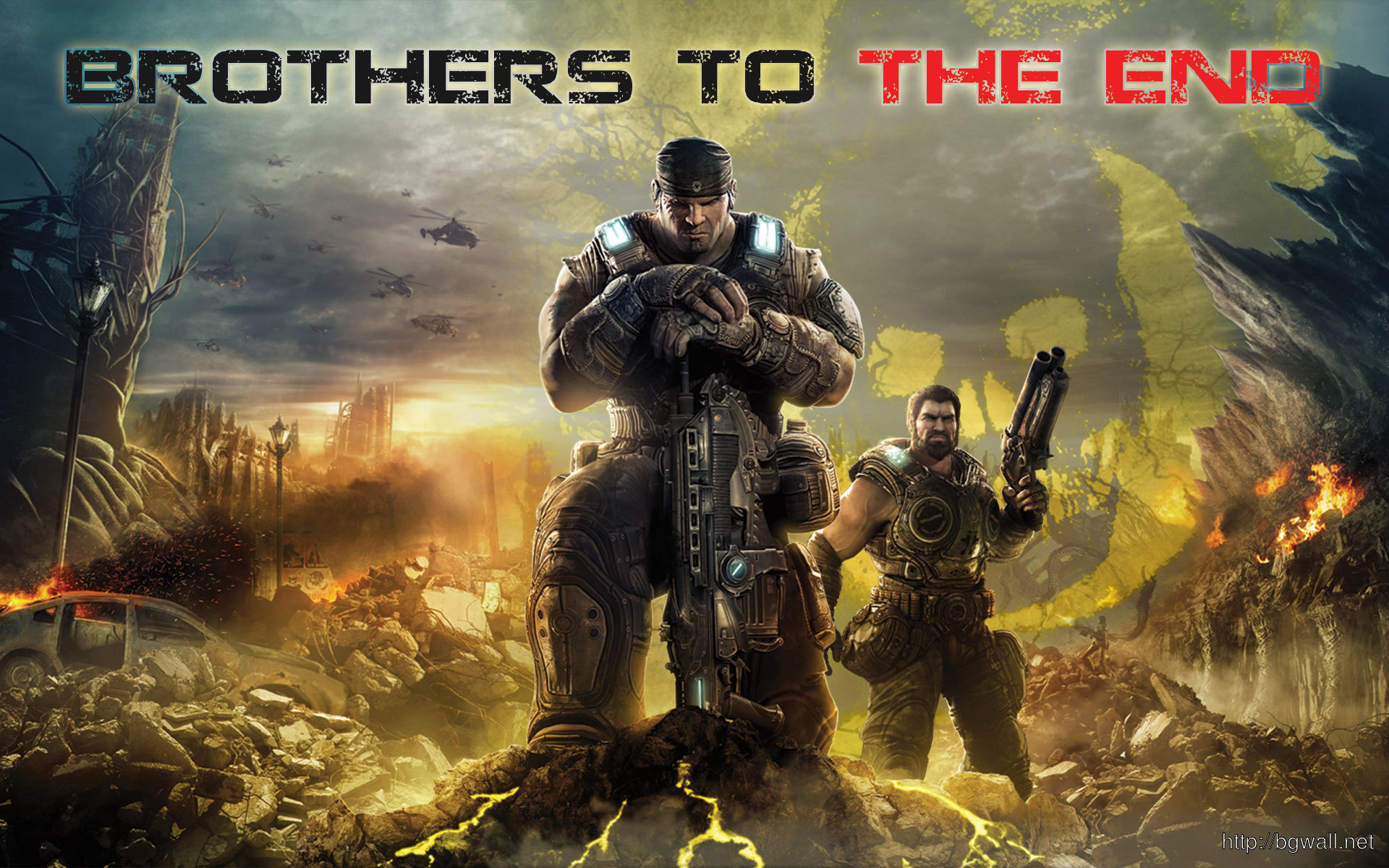 Gears Of War 3 Wallpaper Brothers To The End Background Wallpaper Hd