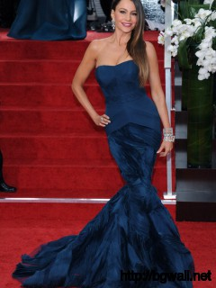 Iconic Red Carpet Dresses Sofia Vergara Golden Globes 2012 Full Size