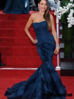 Iconic Red Carpet Dresses Sofia Vergara Golden Globes 2012 Full Size