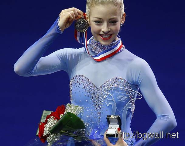 Image Gracie Gold Poses With Her Gold Medal After Winning The Womens Full Size