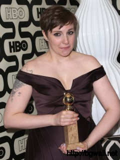 Lena Dunham Actress Lena Dunham Attends Hbos Post 2013 Golden Globe Full Size