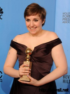 Lena Dunham Writerdirector Lena Dunham Poses With Best Actress In A Full Size