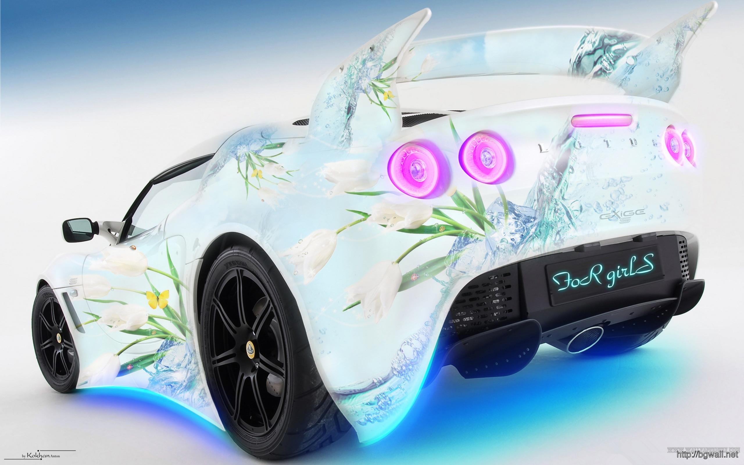 Lotus Car For Girls Wallpaper Full Size