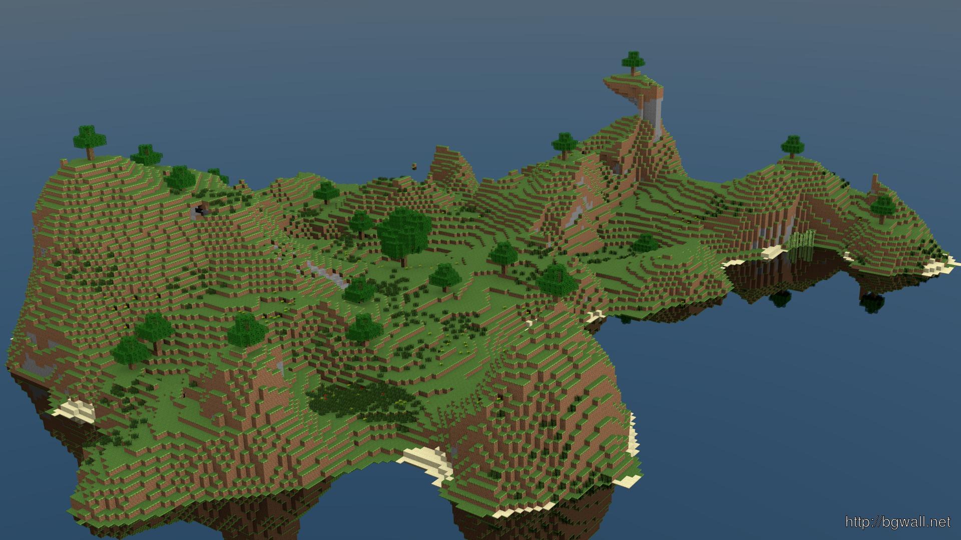 Minecraft Wallpaper Islands Full Size