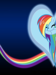 Rainbow Dash Heart Bg By Sirpayne Full Size