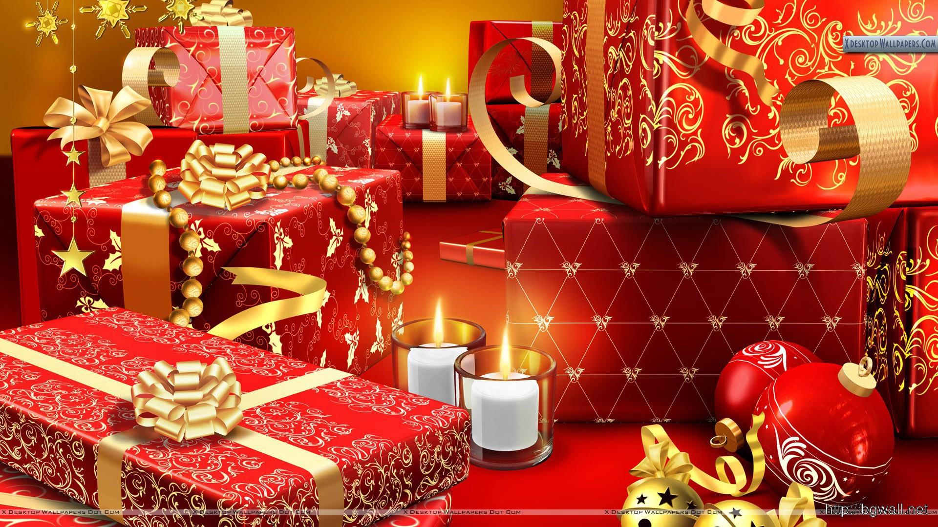 Santas Gifts At Christmas Wallpaper Full Size