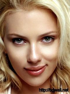 Scarlett Johansson Close-Up Cute Wallpaper