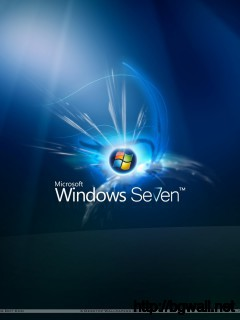 Windows 7 On Dark Blue Background Wallpaper Full Size