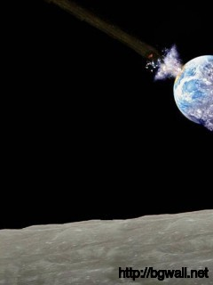 Asrtonaut Watching Apocalypse From The Moon Wallpaper 5411 Full Size