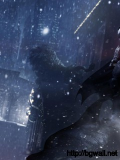 Batman Arkham Origins On Roof Wallpaper Full Size