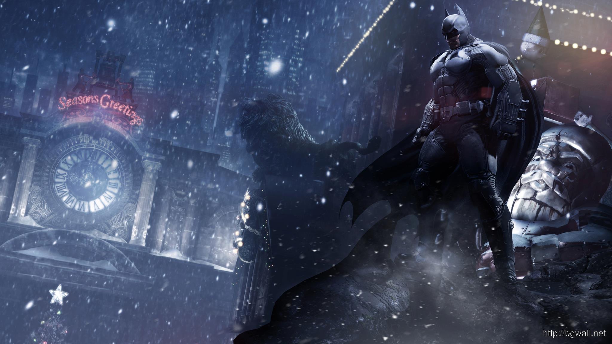 Batman Arkham Origins On Roof Wallpaper Full Size
