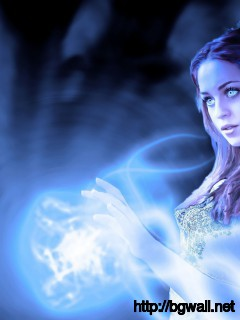Beautiful Blue Eyed Witch Wallpaper Full Size