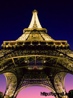 Beneath The Eiffel Tower Paris France Full Size
