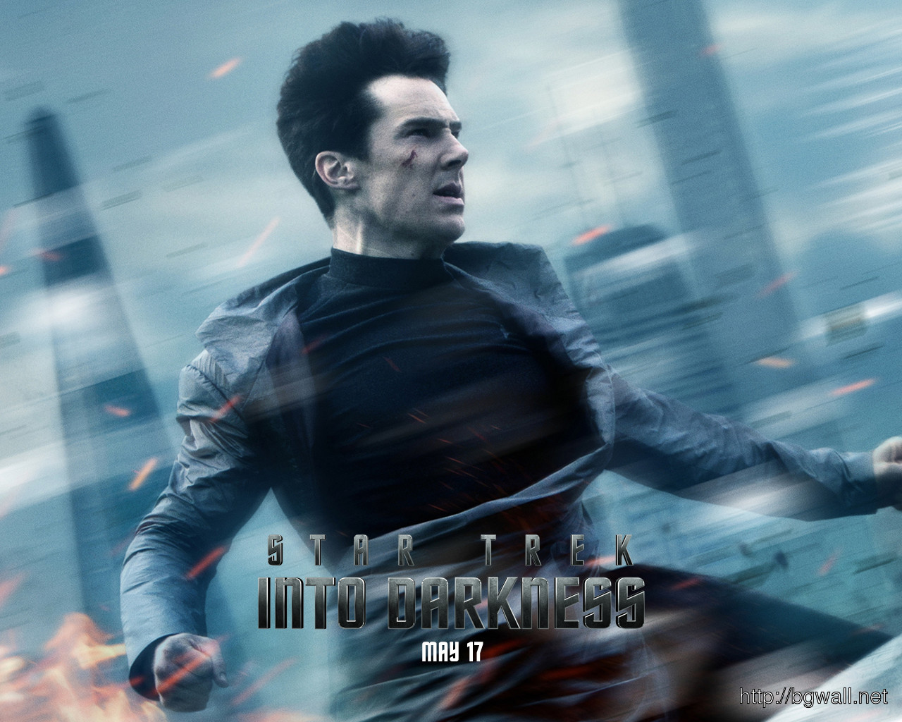 Benedict Cumberbatch In Star Trek Into Darkness Wallpaper