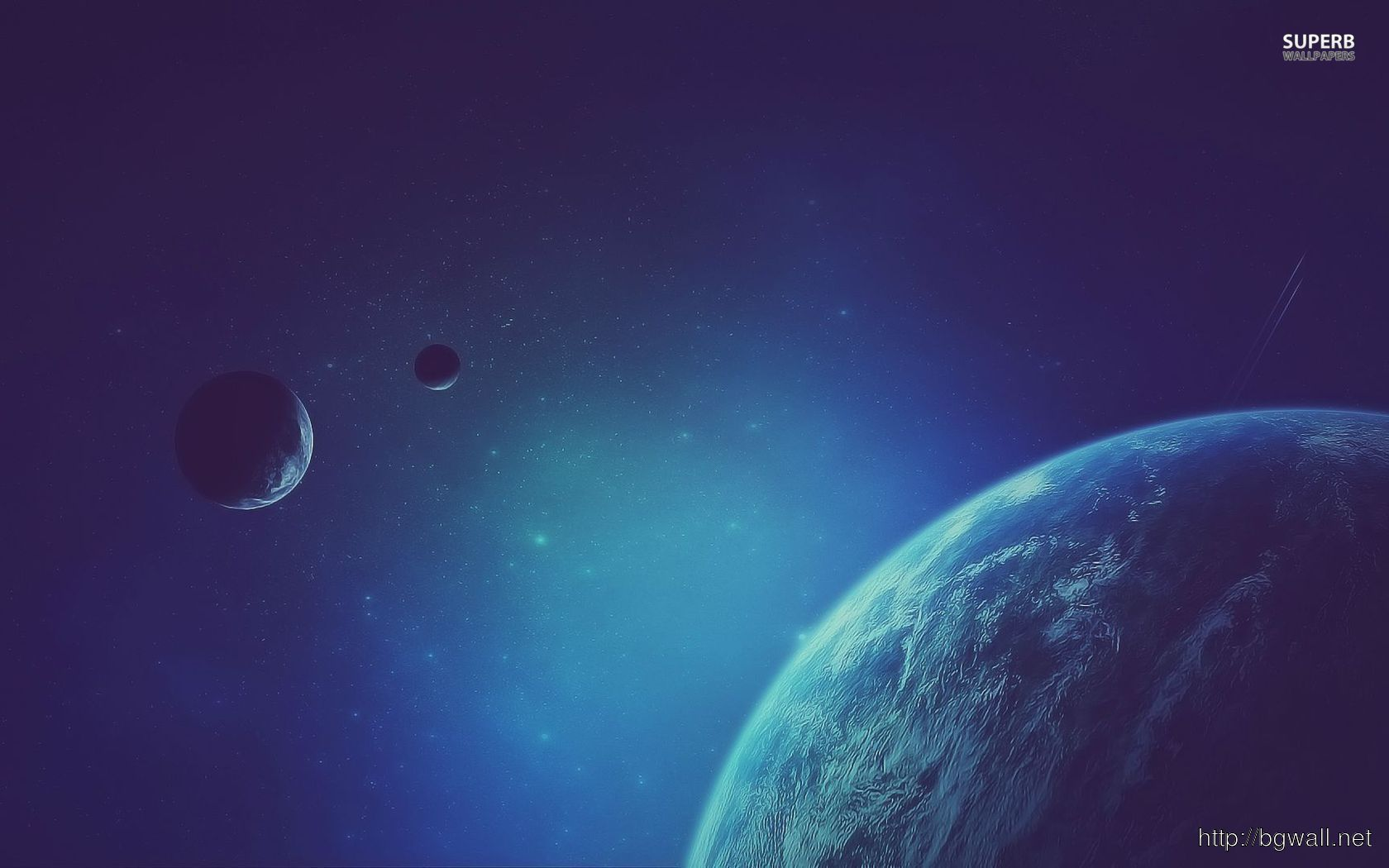 Blue Planets Wallpaper Full Size
