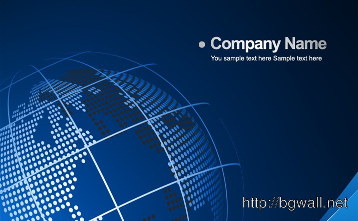 Business Background With Globe Full Size