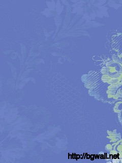 Calming Wallpaper In Serene Blue With Stylized Floral Design Full Size