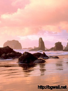 Coastal Sunset Face Rock State Park Bandon Oregon Full Size