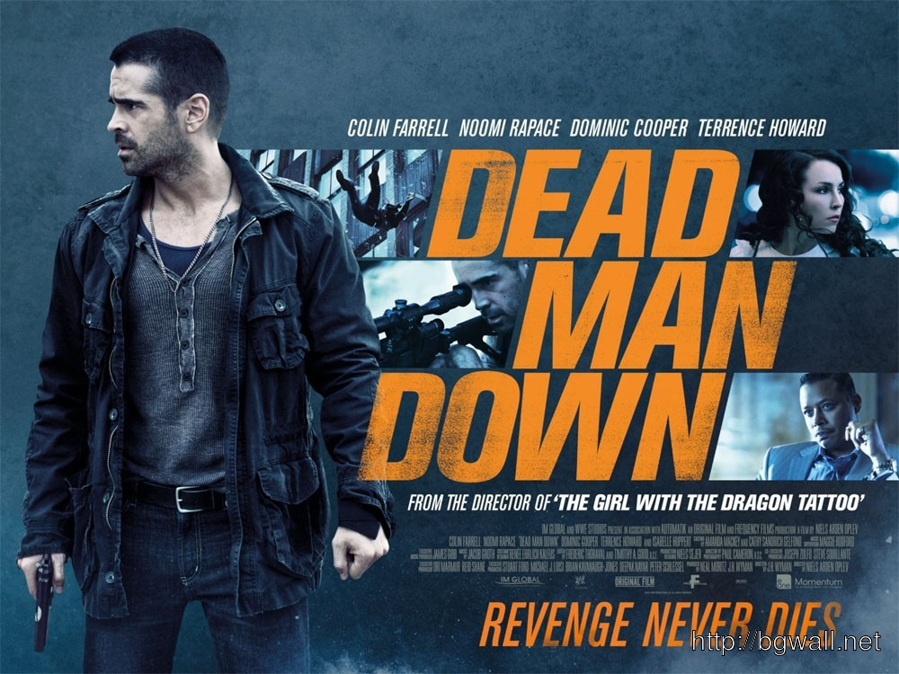 Dead Man Down Movie Wallpapers: Colin Farrell Noomi Rapace And Terrence Howard In Dead Man