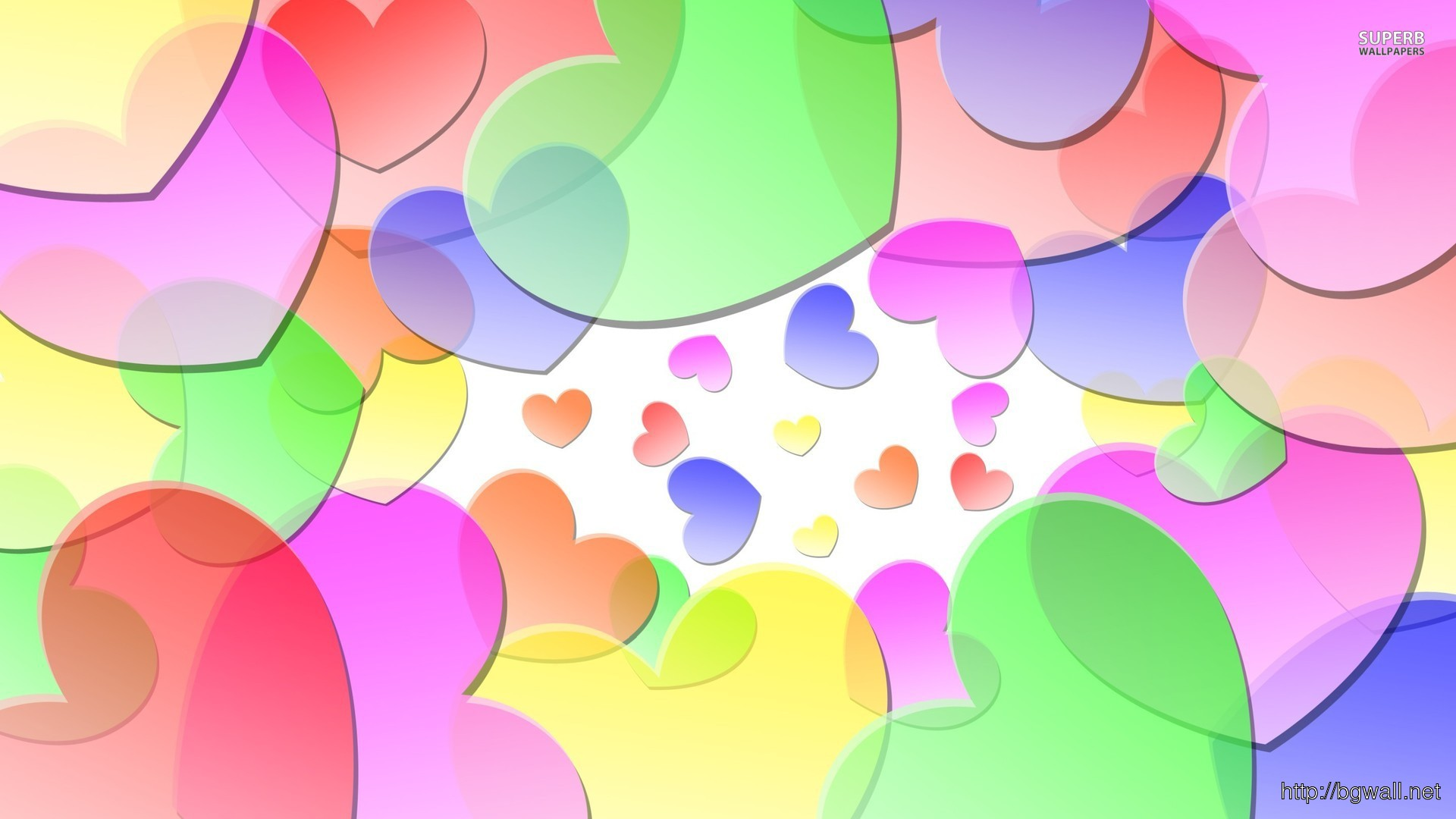 Colorful Hearts Wallpaper Full Size