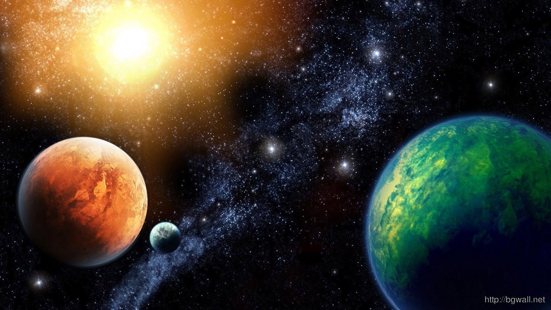 Colorful Planets Wallpaper 3197 Full Size