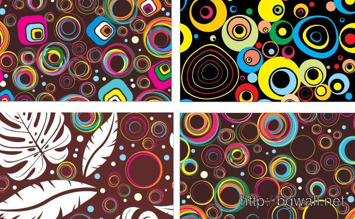 Colourful Circle Patterns Full Size