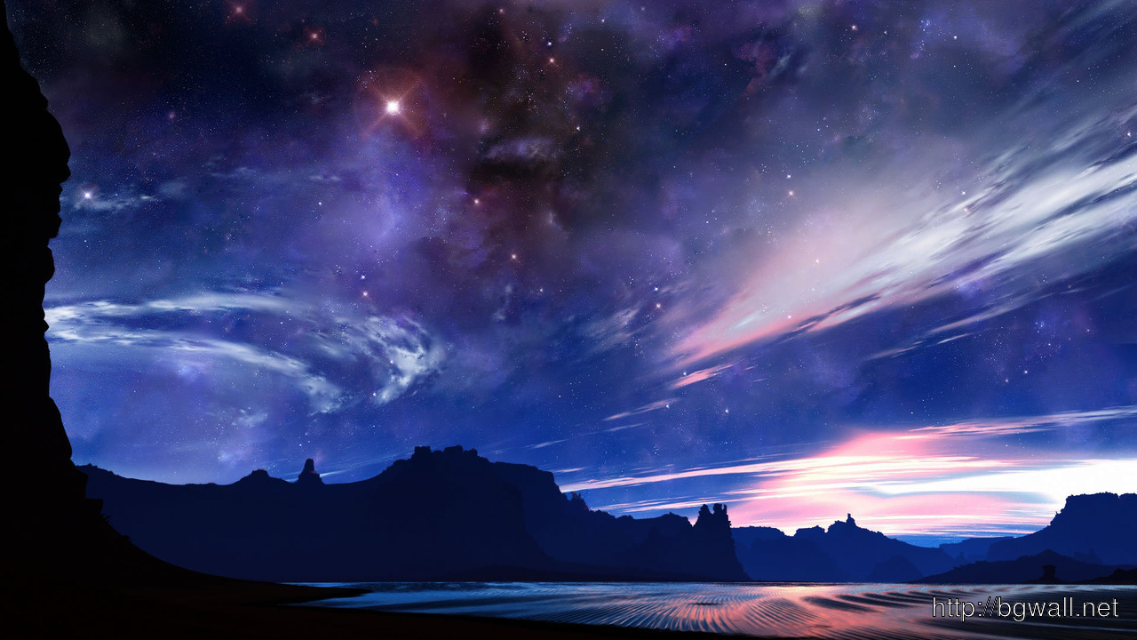 Download Clear Night Sky In The Desert Wallpaper Full Size