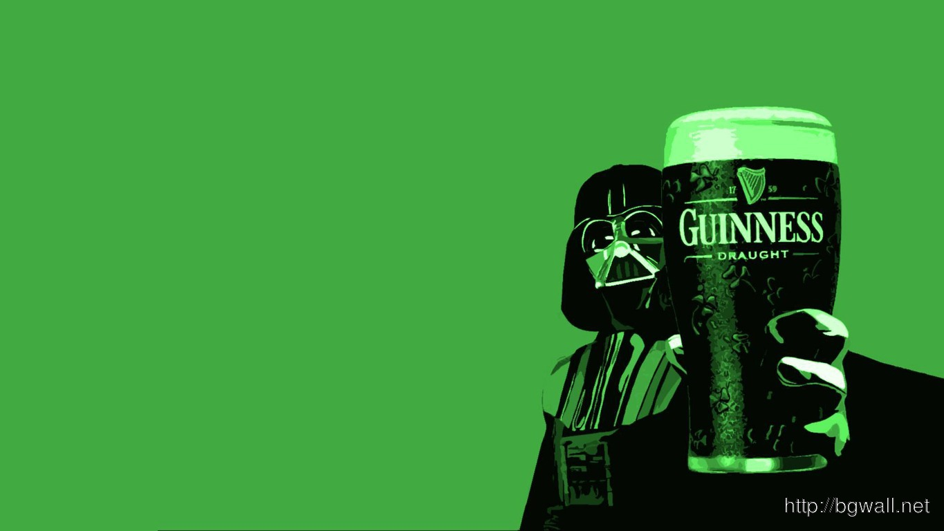 Download Darth Vader Holding A Glass Of Guiness Wallpaper Full Size
