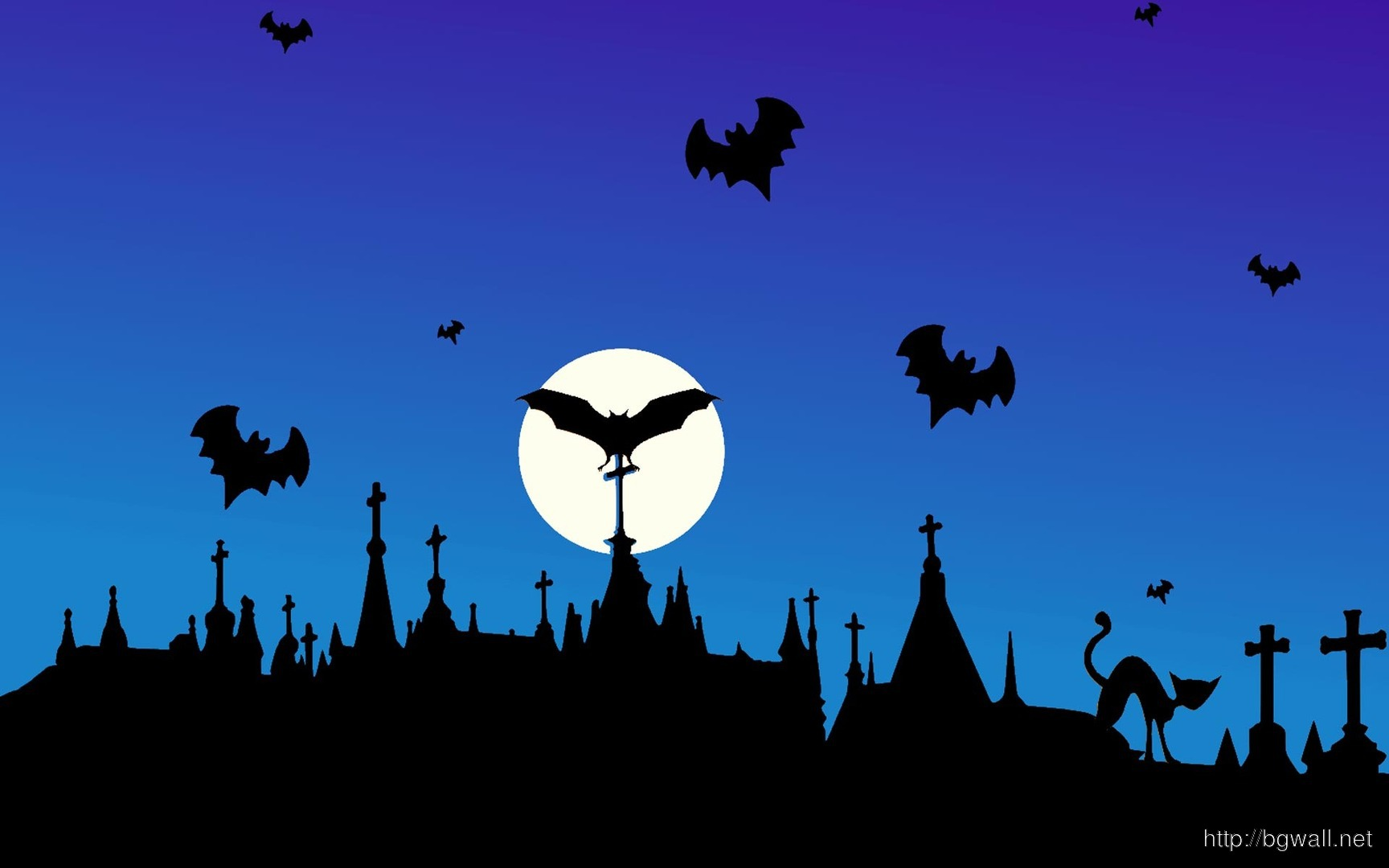 Download Halloween Silhouettes Wallpaper Full Size