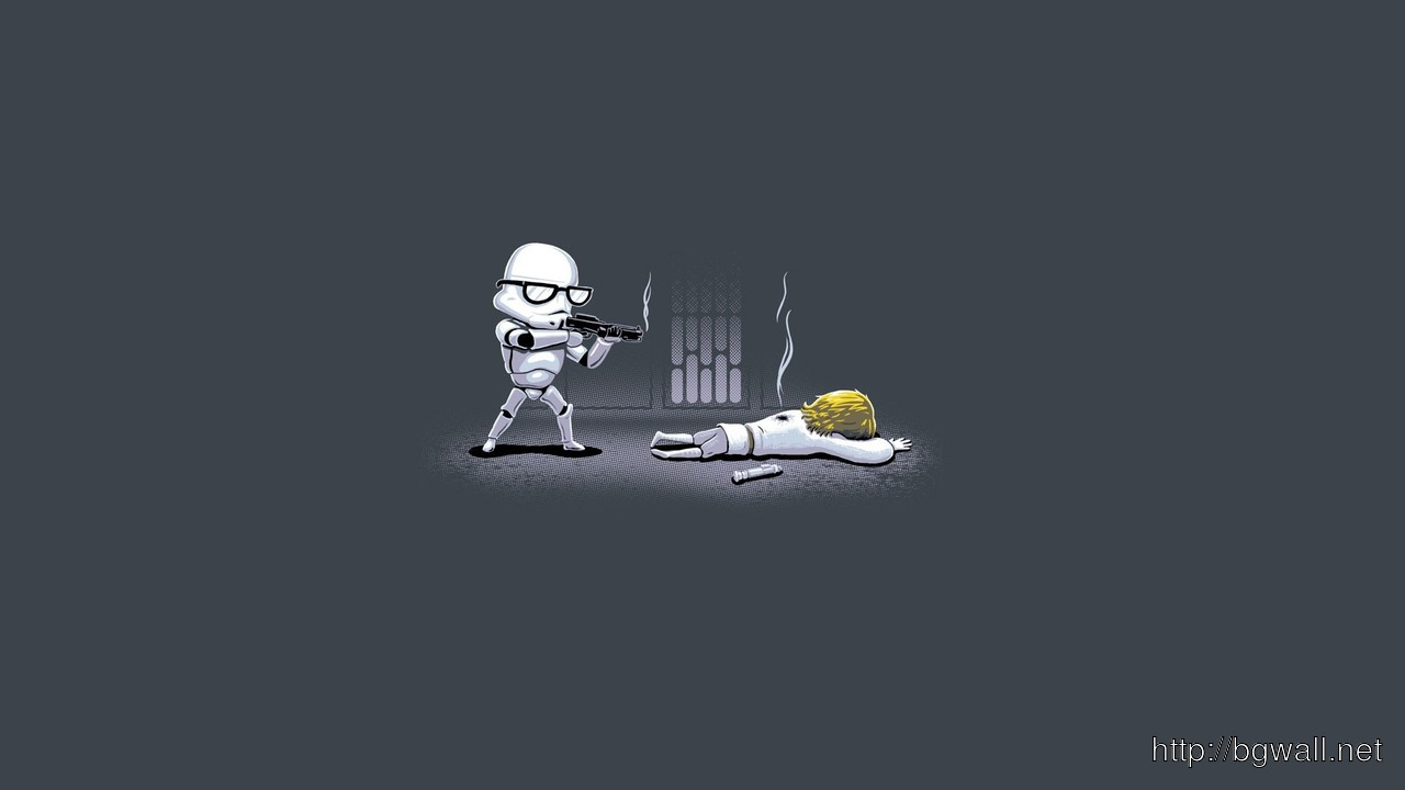 Download Hipster Stormtrooper Shooting Luke Wallpaper Full Size