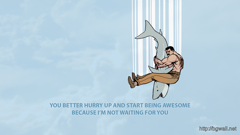 Download Hugging A Shark Wallpaper Full Size
