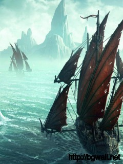 Download Pirate Ships In Icy Waters Wallpaper Full Size