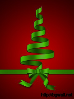Download Ribbon Christmas Tree Wallpaper Full Size