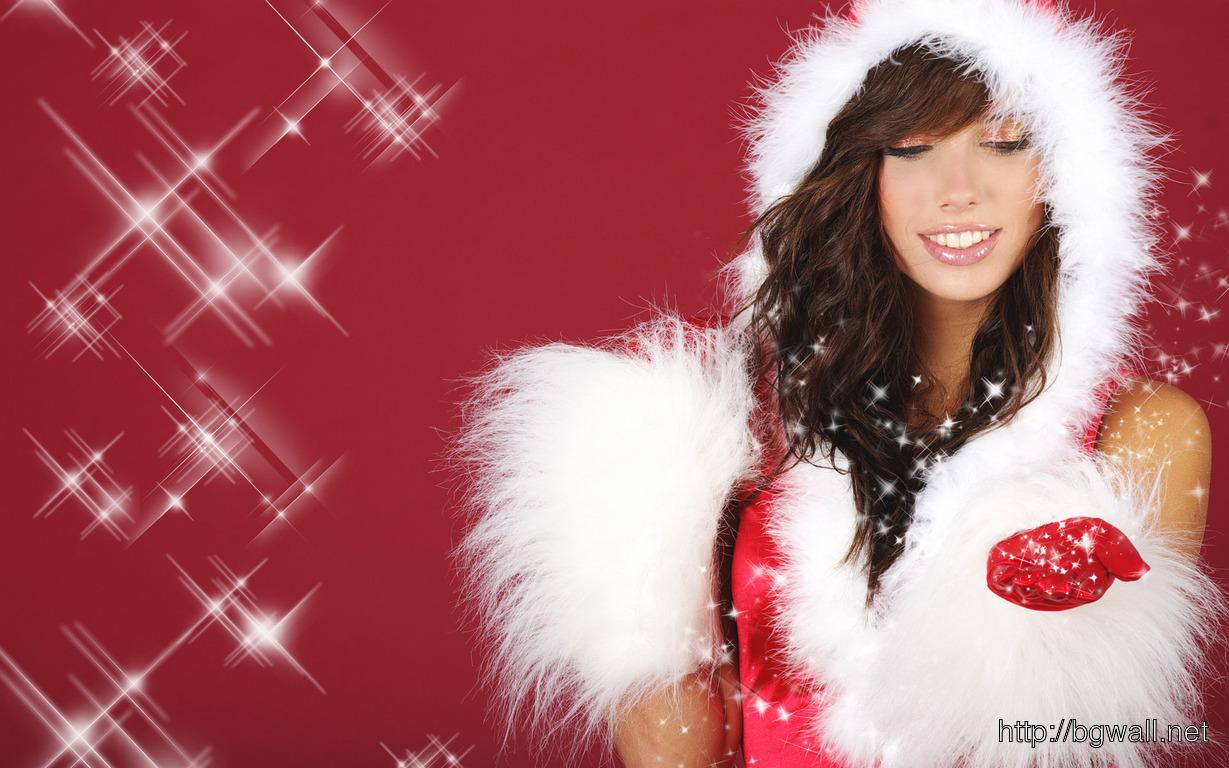 Download Santa Girl Wallpaper Full Size