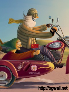 Download Senior Couple On A Motorcycle Wallpaper Full Size