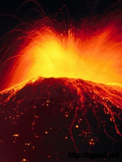 Erupting Volcano Wallpaper 9497 Full Size