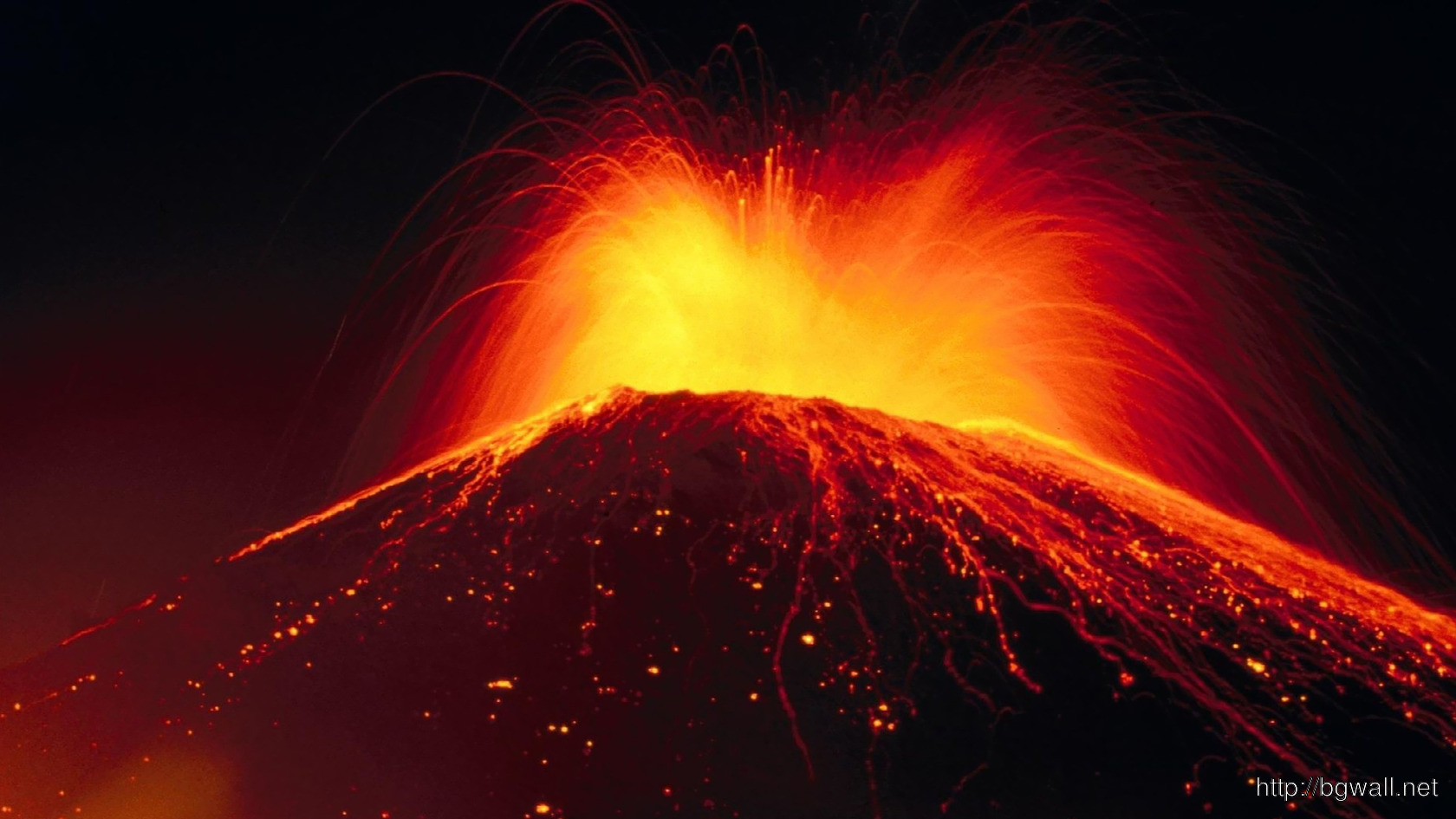 Erupting Volcano Wallpaper 9497 Full Size