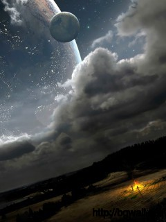 Fantastic Night Sky View Wallpaper Full Size
